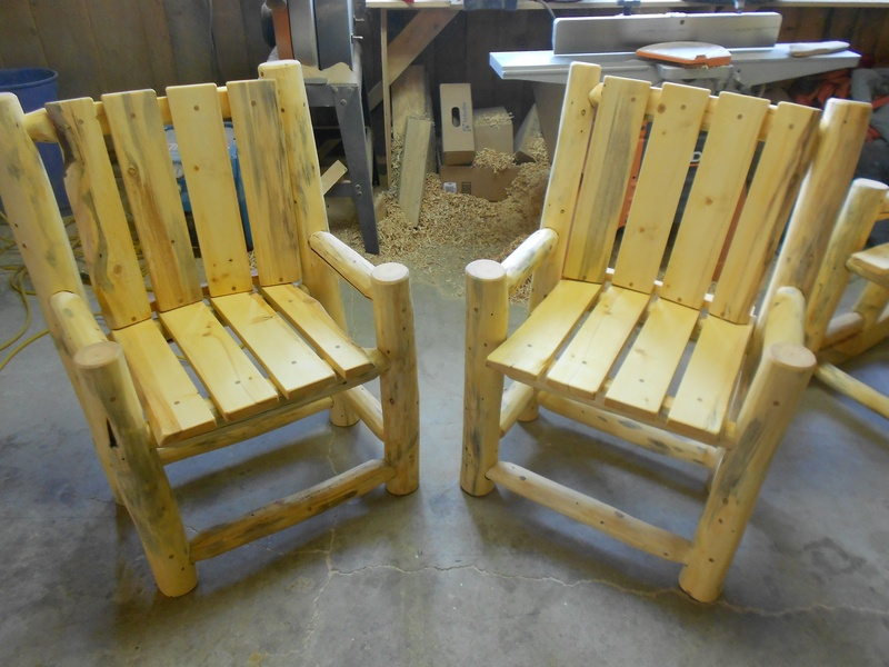 & outdoor pine chairs $275